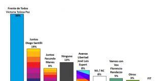 Encuesta Provincia: Tolosa Paz le saca una clara ventaja a las listas de Manes y Santilli